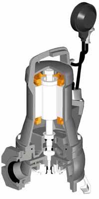 Αντλίας λυμάτων με κοπτήρες draincor