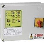 Ηλεκτρονικοί πίνακες για πιεστικά δίδυμα με αμπερομετρική προστασία και έλεγχο στάθμης